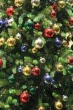 abstract christmas lights tree Στοκ εικόνες με δικαίωμα ελεύθερης χρήσης