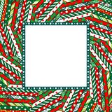 Abstract Christmas mosaic background with frame Royalty Free Stock Image