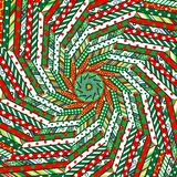 Abstract Christmas mosaic background Stock Image