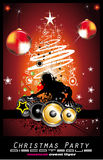 Abstract Christmas Music Disco Background Stock Images