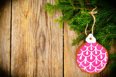 Abstract Christmas and New Year Background with Old Vintage Wood Royalty Free Stock Photo
