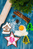 Abstract Christmas and New Year Background with Old Vintage Wood Stock Image
