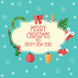 Abstract Christmas and New Year Background. Vector Stock Images