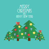 Abstract Christmas and New Year Background. Vector Stock Image