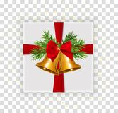 Abstract Christmas and New Year Gift Box on Transparent Background. Vector Illustration. EPS10 royalty free illustration