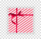 Abstract Christmas and New Year Gift Box on Transparent Background. Vector Illustration. EPS10 stock illustration