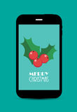 Abstract Christmas and New Year Mobile Phone Stock Photography