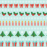 Abstract Christmas and New Year Seamles Pattern Royalty Free Stock Images