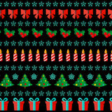 Abstract Christmas and New Year Seamles Pattern Stock Images
