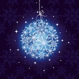 Abstract christmas ornament Stock Images