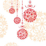 Abstract christmas ornament. On seamless pattern background Stock Image