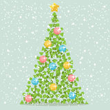 Abstract Christmas Paper Tree Stock Image