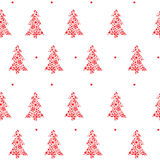 Abstract  Christmas pattern with christmas t Royalty Free Stock Image