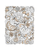 Abstract christmas pattern, sketch for your design Royalty Free Stock Photography
