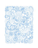 Abstract christmas pattern, sketch for your design Stock Image
