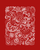 Abstract christmas pattern, sketch for your design Stock Photography
