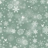 Abstract Christmas pattern with snowflakes royalty free stock image