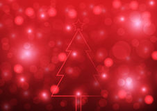 Abstract christmas red background and bokeh vector illustration Stock Photo