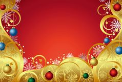 Abstract Christmas Red Gold Background Stock Image