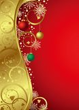 Abstract Christmas Red Gold Curve Background Royalty Free Stock Image