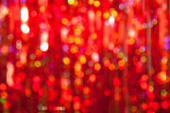 Abstract christmas red lights on background Royalty Free Stock Images