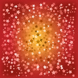 Abstract christmas red stars background Royalty Free Stock Images