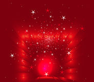 Abstract christmas red stars background. Vector Royalty Free Stock Photos