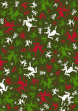 Abstract Christmas Reindeer Pattern. Festive Christmas Reindeer in Silhouette Pattern Vector Illustration  An EPS file is also available Stock Photography