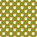 Abstract Christmas Santa Clause face pattern Royalty Free Stock Photos