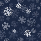 Abstract christmas seamless pattern background with snowflakes Stock Photos