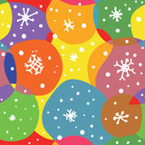 Abstract christmas seamless pattern with circles Royalty Free Stock Image