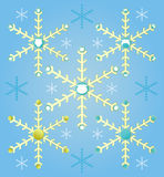 Abstract Christmas set snowflakes, santa beard on blue background Stock Images