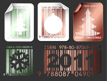 Abstract Christmas shopping labels Stock Photos