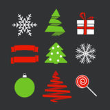 Abstract Christmas silhouettes Stock Image