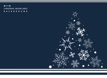 Abstract of Christmas simple blue color background with white sn royalty free illustration