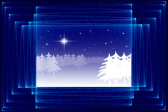 Abstract Christmas sketch Royalty Free Stock Images