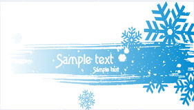 Abstract christmas snow on blue background, vector Royalty Free Stock Photo