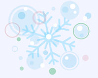 Abstract christmas snow flake and balls Royalty Free Stock Images