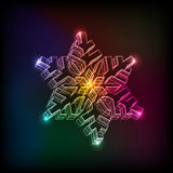 Abstract Christmas snowflake Royalty Free Stock Photography
