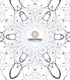 Abstract Christmas snowflake floral design Stock Images