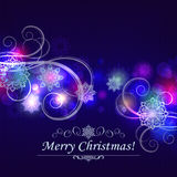 Abstract Christmas snowflakes background Stock Images