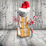 Abstract Christmas snowman Royalty Free Stock Photography