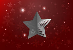Abstract Christmas Star Background Stock Photography