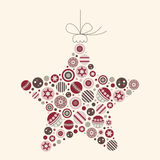 Abstract Christmas Star Vector Illustration Stock Image