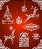 Abstract christmas symbols Stock Photos