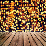Abstract Christmas table background - Beautiful wood board table royalty free stock images