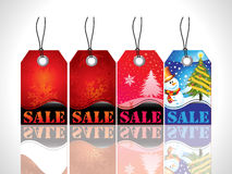 Abstract christmas tag Stock Photos
