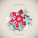 Abstract Christmas theme, colorful stylized Royalty Free Stock Photo
