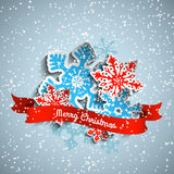 Abstract Christmas theme, colorful stylized Stock Photos