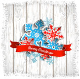 Abstract Christmas theme, colorful stylized Royalty Free Stock Image